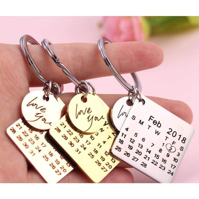 Moment in time keychain - customize calendar S - Key Chains