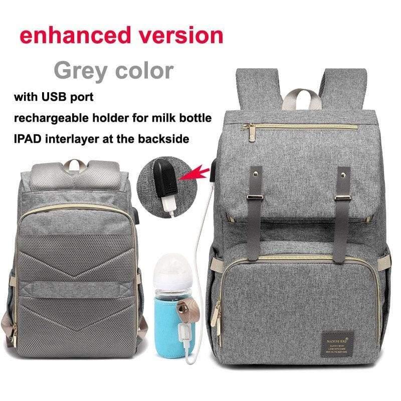 Multi-Function Diaper Bag - grey enhanced versio - Diaper Bags