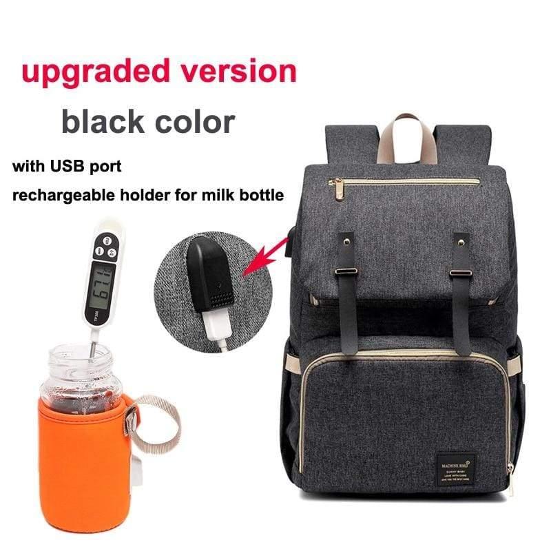 Multi-Function Diaper Bag - black upgraded versi - Diaper Bags