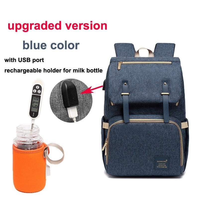 Multi-Function Diaper Bag - blue upgraded versio - Diaper Bags
