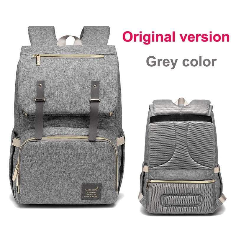Multi-Function Diaper Bag - grey original versio - Diaper Bags