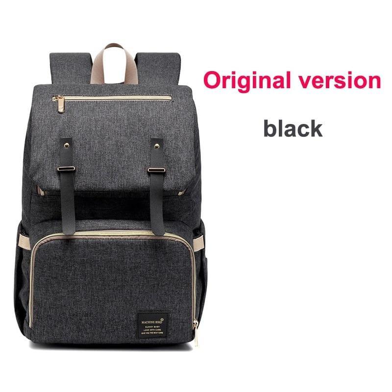 Multi-Function Diaper Bag - black original versi - Diaper Bags