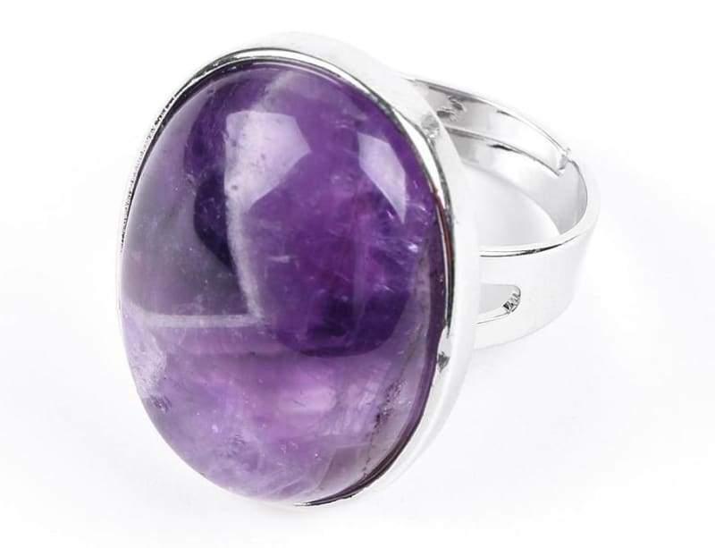 Amazing Oval gemstone ring - Amethyst - Rings