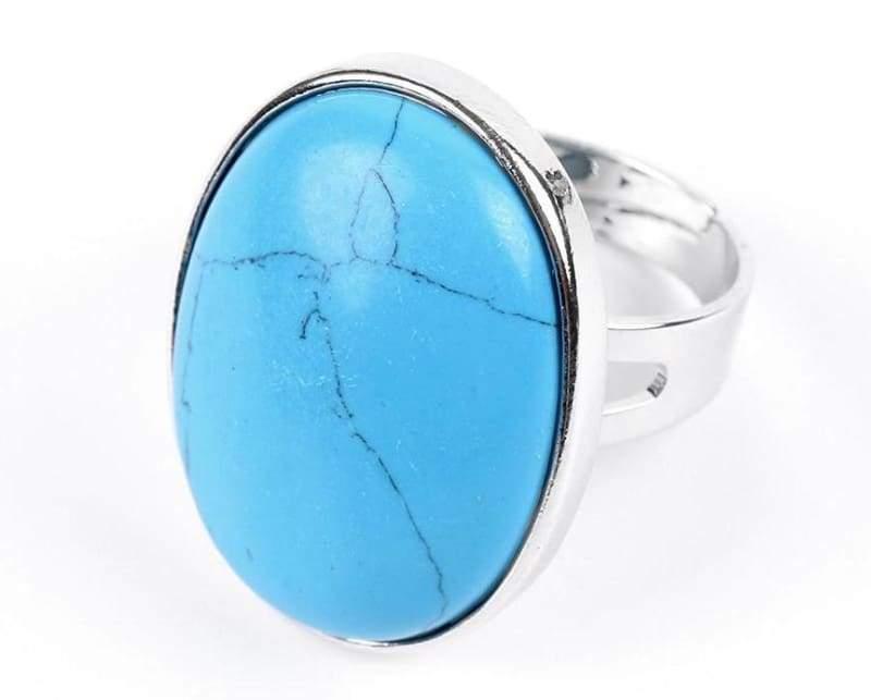 Amazing Oval gemstone ring - Blue Turquoise - Rings