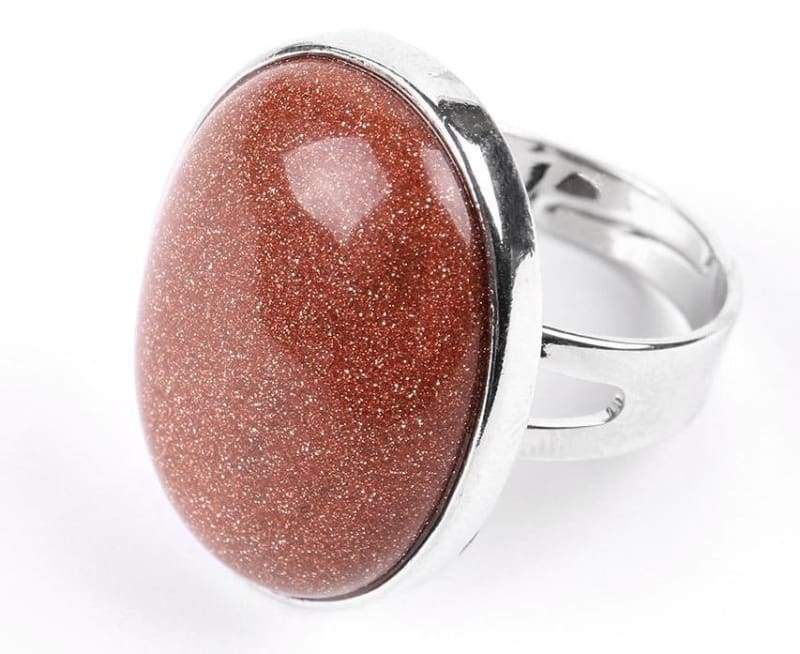 Amazing Oval gemstone ring - Brown Sand - Rings