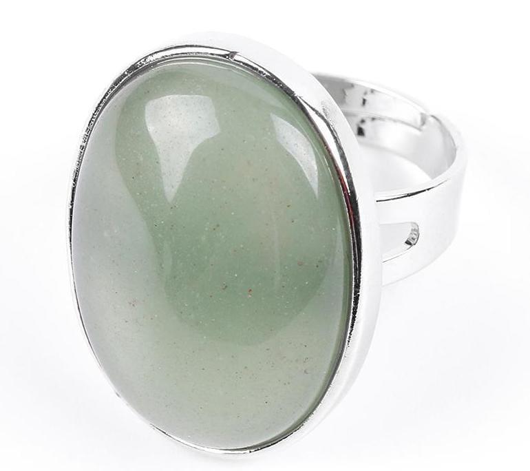 Amazing Oval gemstone ring - Green Aventurine - Rings