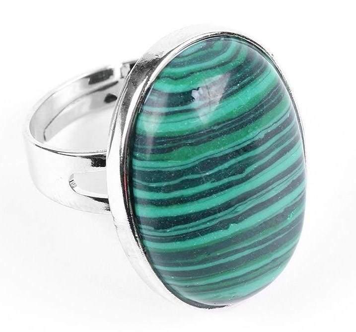 Amazing Oval gemstone ring - Malachite - Rings