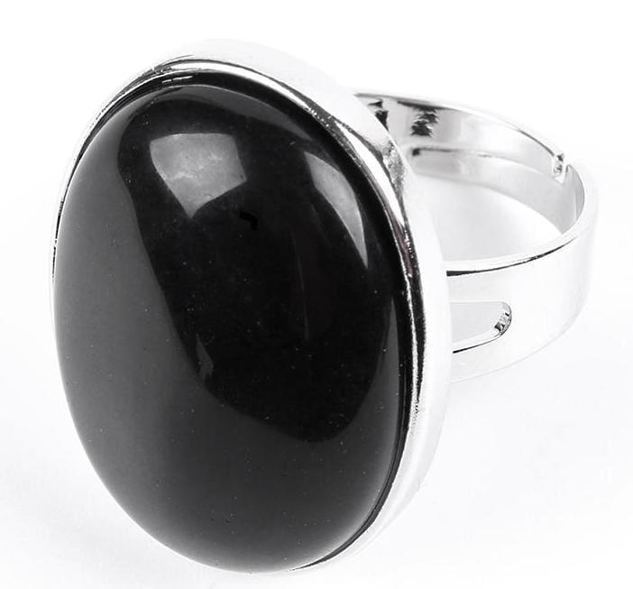 Amazing Oval gemstone ring - Obsidian - Rings