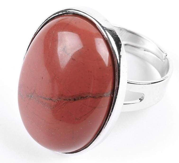 Amazing Oval gemstone ring - Red Jasper - Rings