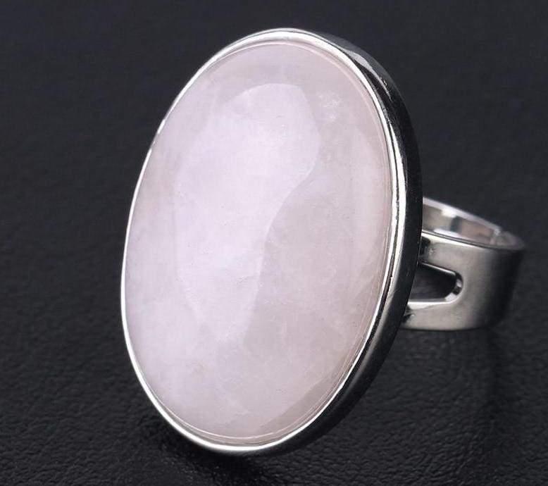Amazing Oval gemstone ring - Rose Quartz - Rings