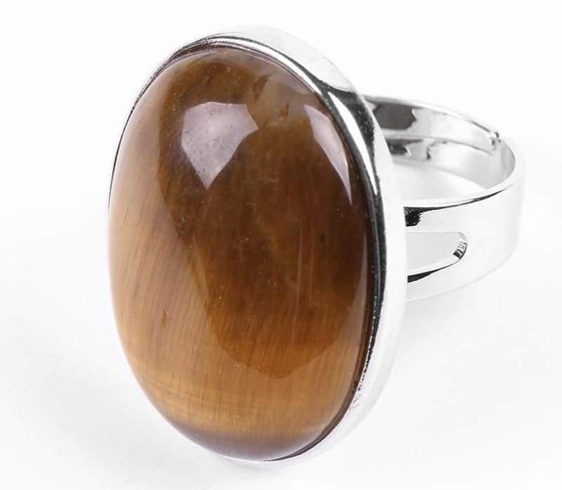 Amazing Oval gemstone ring - Tiger Eye - Rings