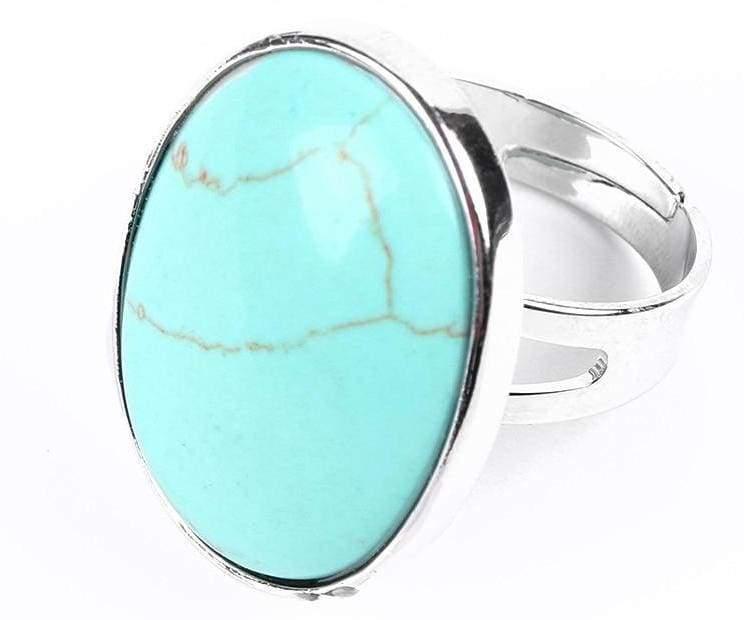 Amazing Oval gemstone ring - Turquoise - Rings