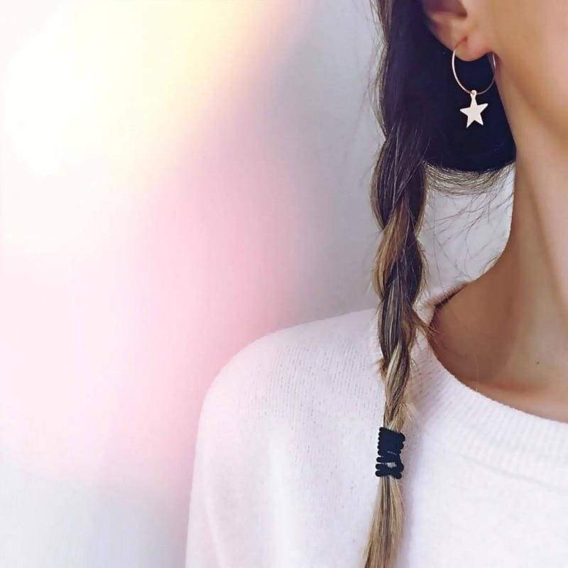 Pentagram Ear Rings - Hoop Earrings