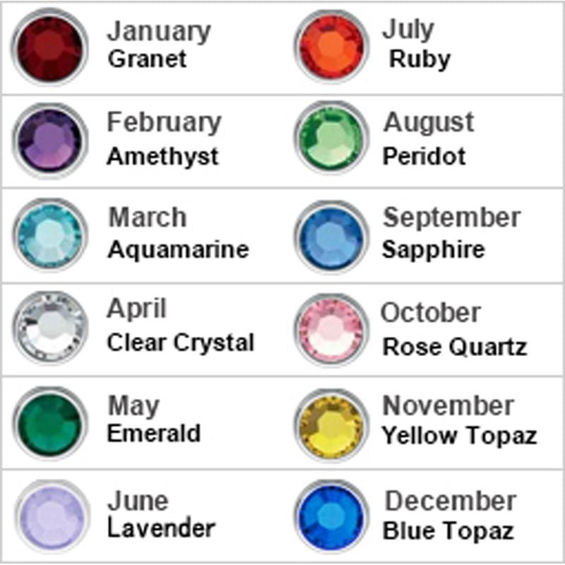 Personalized Birthstones Necklace Heart Name Pendant. - Pendant Necklaces