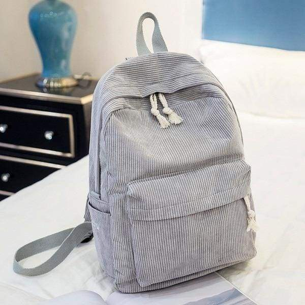 Preppy Style Soft Fabric Backpack Female - 1241a - Backpacks