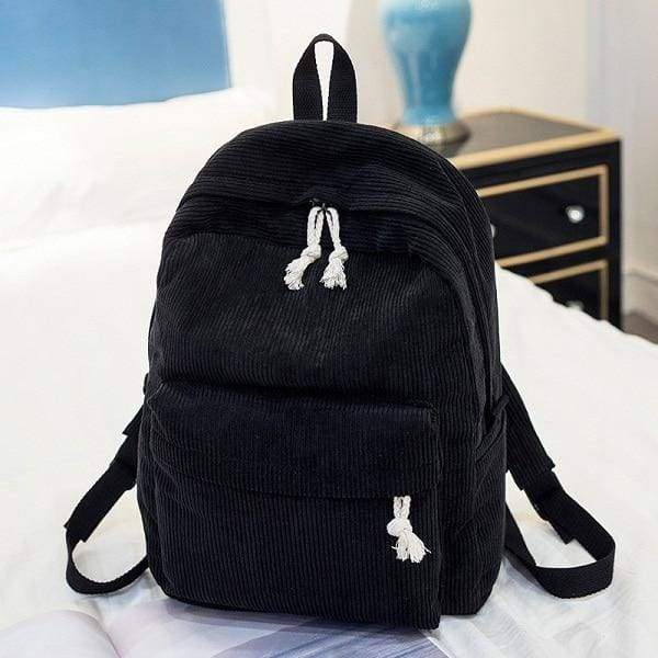 Preppy Style Soft Fabric Backpack Female - 1241b - Backpacks