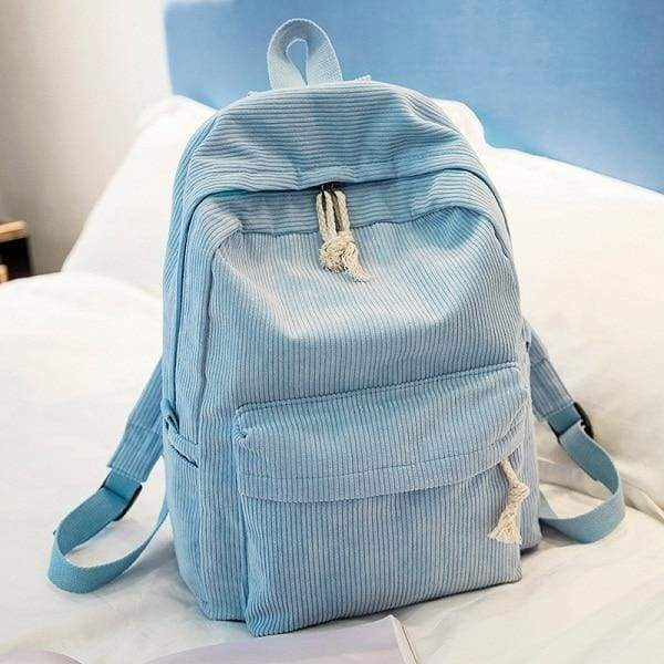 Preppy Style Soft Fabric Backpack Female - 1241d - Backpacks