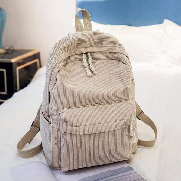 Preppy Style Soft Fabric Backpack Female - 1241e - Backpacks