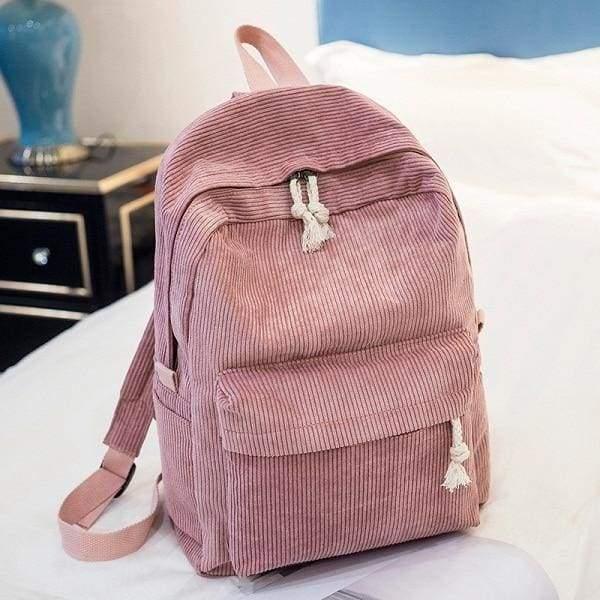Preppy Style Soft Fabric Backpack Female - 1241f - Backpacks