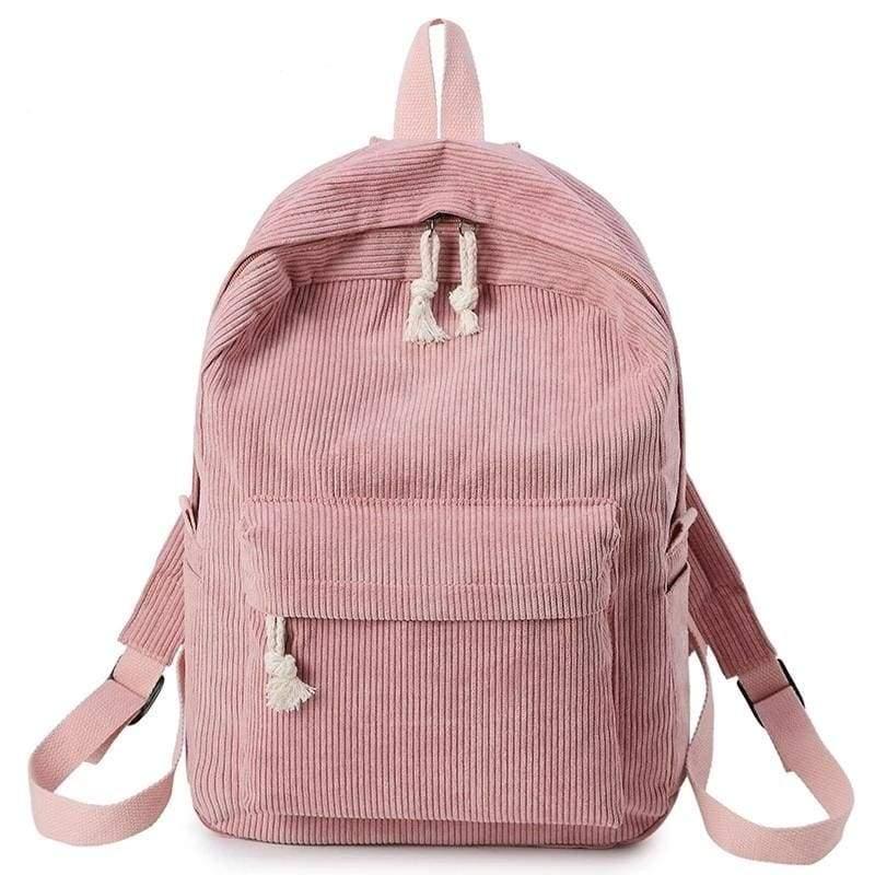 Preppy Style Soft Fabric Backpack Female - Backpacks