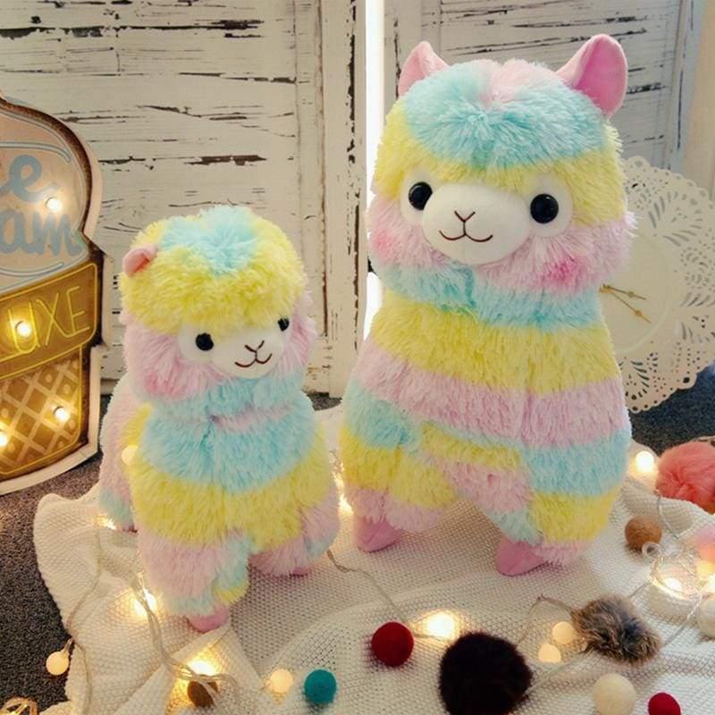 Rainbow Alpaca Stuffed Toy - 13 cm - Stuffed & Plush Animals