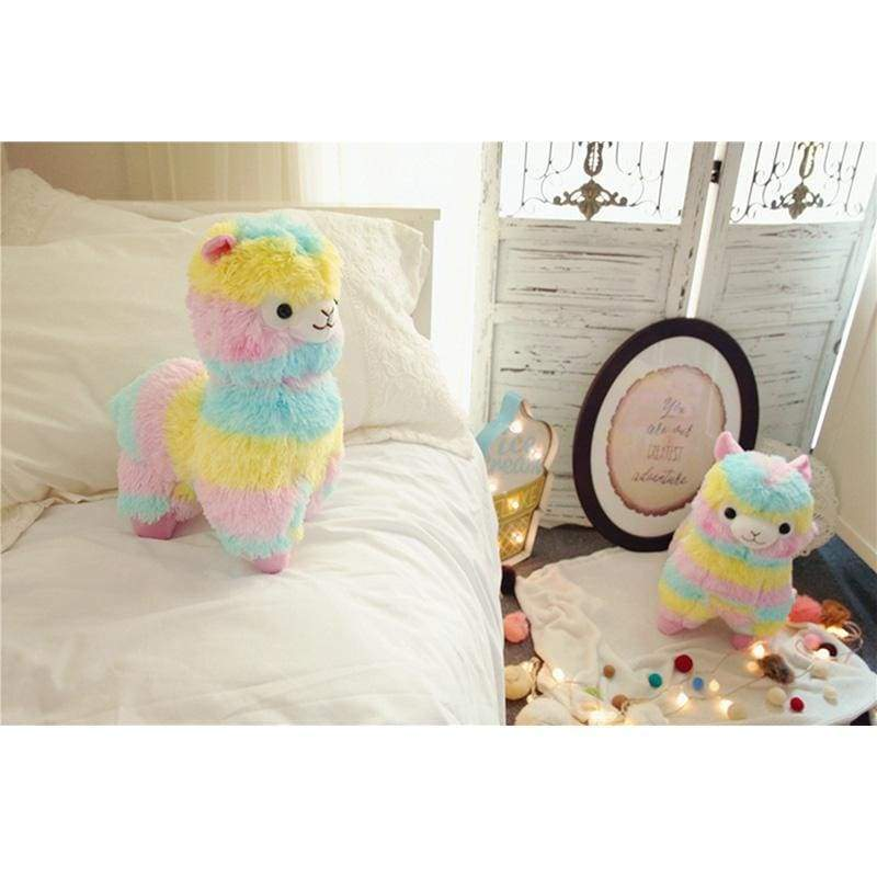 Rainbow Alpaca Stuffed Toy - Stuffed & Plush Animals