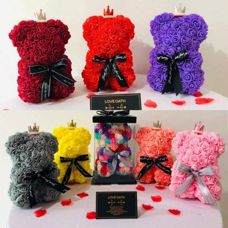 Rose Teddy Bear Valentines Gift Just For You - Teddy Bear1