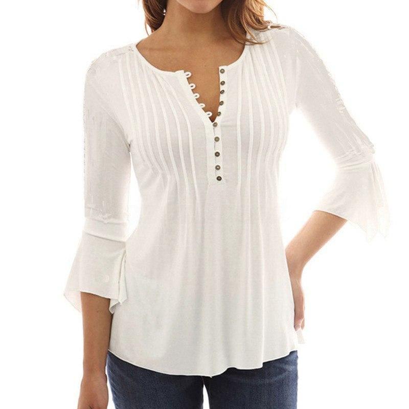Ruffles Tunic Top - 3 / S - Blouses & Shirts