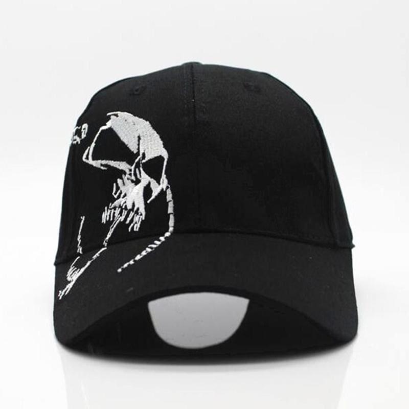 Skull Embroidery Baseball Cap - Baseball Caps