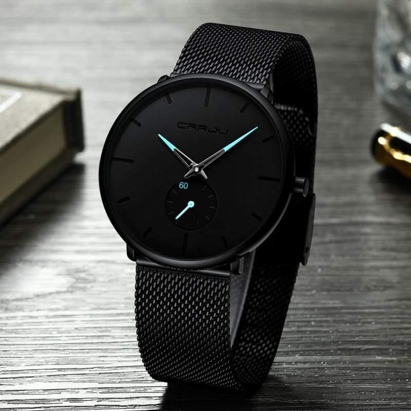 Slim Mesh Steel Waterproof Sports Watch - Quartz Watches