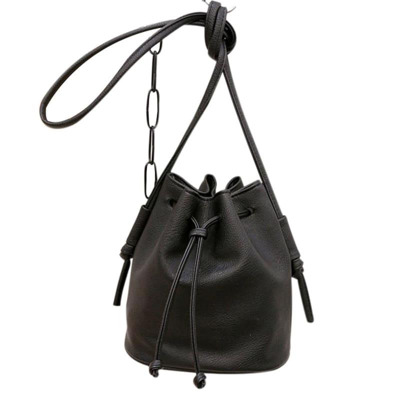 Small Womens Messenger Bag - Black - Shoulder Bags