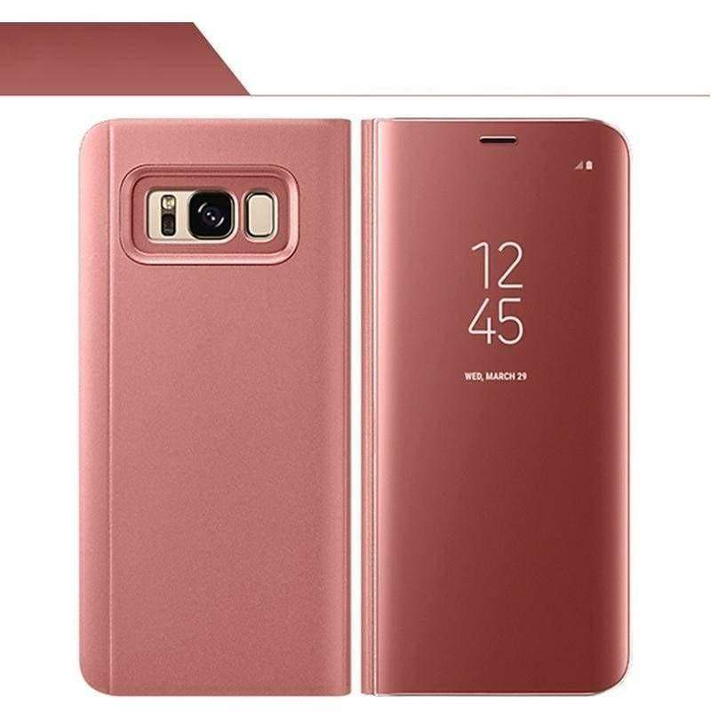 Smart Chip Case Flip Cover Samsung Smart Phone Just For You - Rose Gold / For S7 Edge - Flip Cases
