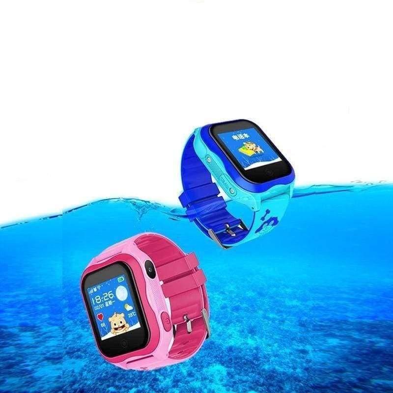 Smart GPS WIFI Tracker Watch for Kids - Blue - Smart Watches