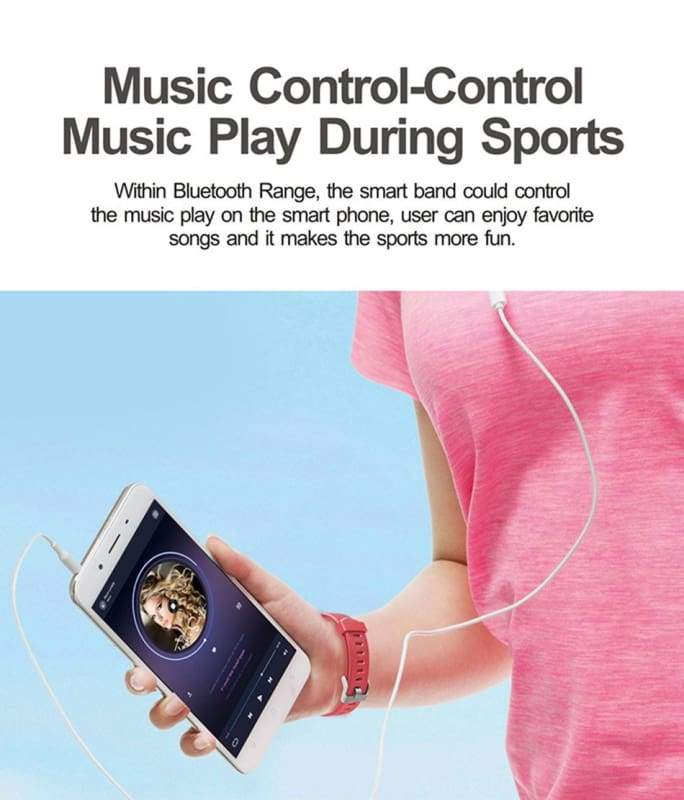 Smart Sports Wristband Plus HR Fitness Tracker - Smart Wristbands