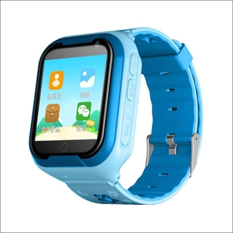 Smart Watch For Kids With 4G GPS Wifi Tracker - Blue - Smart Watches