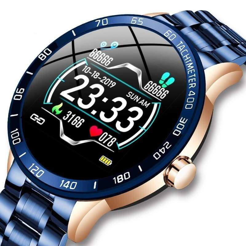 Smart Watch Heart Rate Blood Pressure Monitor Steel Band - Smart Watches2