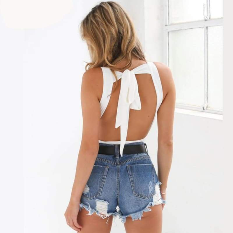 Sophie Backless Bodysuit - Bodysuits