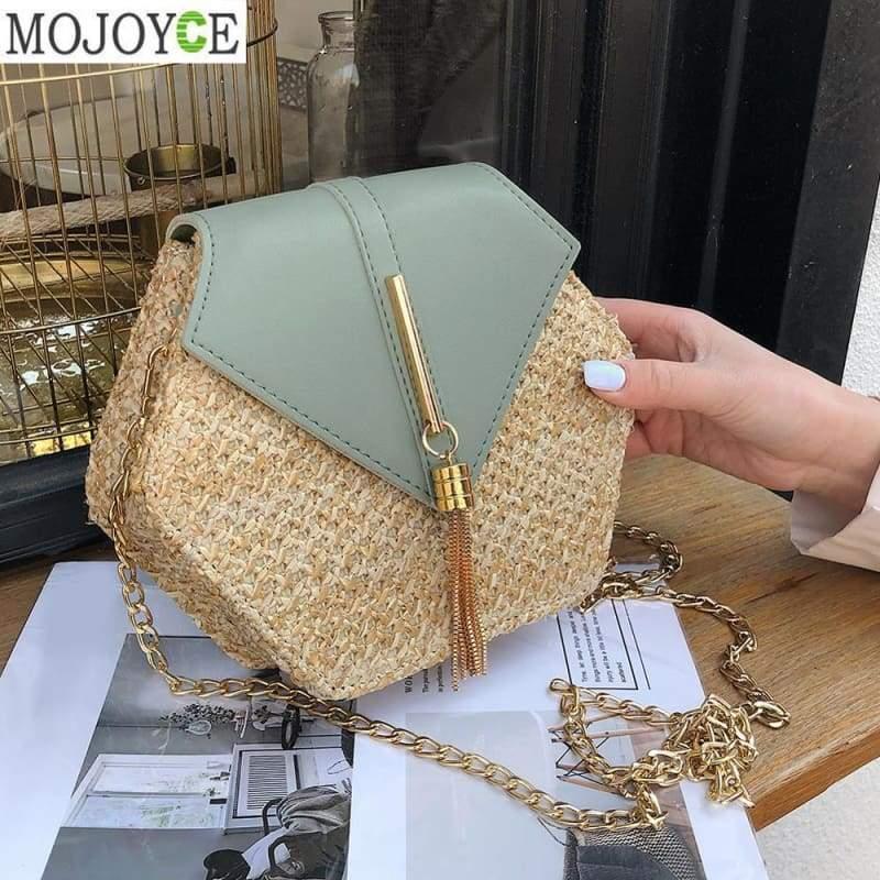 Straw Handmade Handbags - Top-Handle Bags