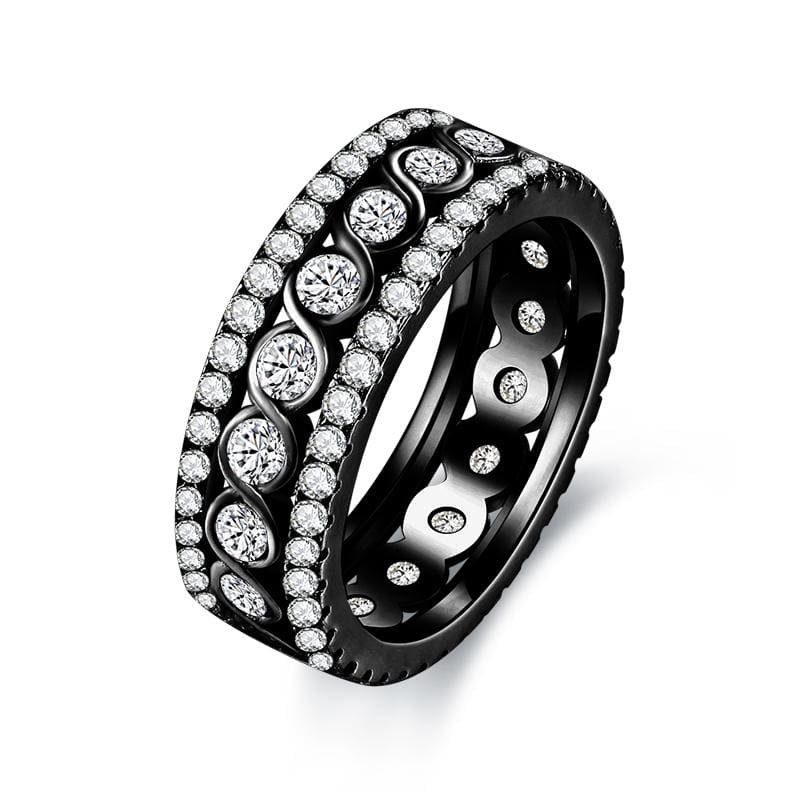 Stunning Eternity Ring - 10 / Black gold color - Engagement Rings