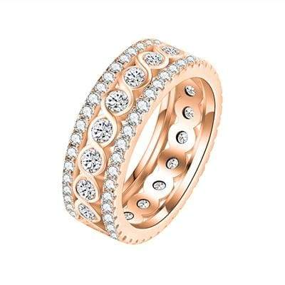 Stunning Eternity Ring - 10 / rose gold color - Engagement Rings