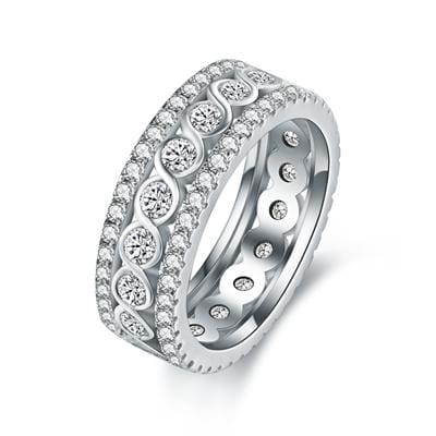 Stunning Eternity Ring - 10 / white gold color - Engagement Rings