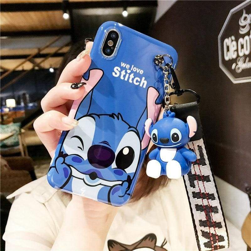 Super-Cute Characters Animated Phone Case - a / for iphone 6 6s / Case & Strap - Fitted Cases