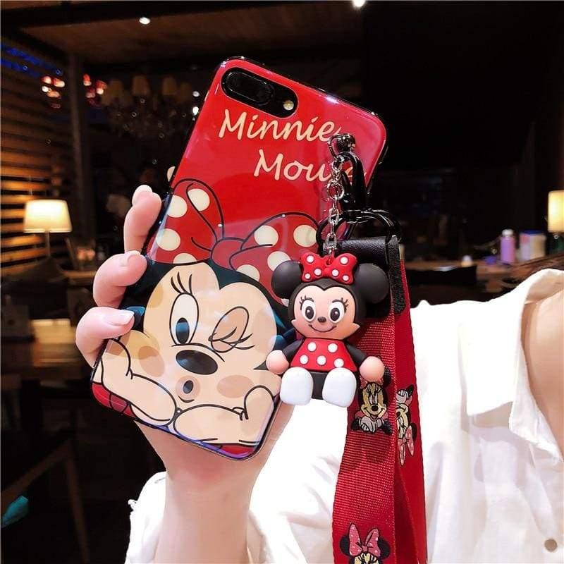 Super-Cute Characters Animated Phone Case - c / for iphone 6 6s / Case & Strap - Fitted Cases
