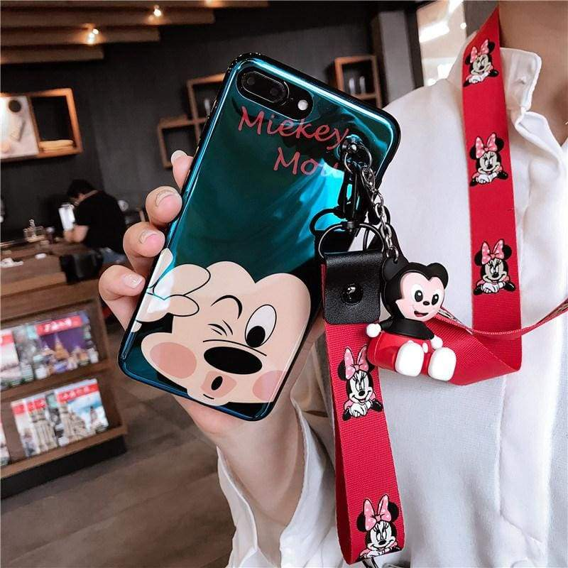 Super-Cute Characters Animated Phone Case - d / for iphone 6 6s / Case & Strap - Fitted Cases