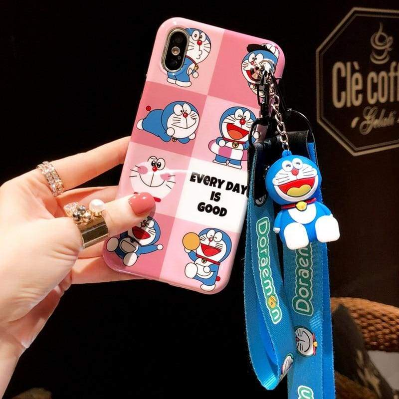 Super-Cute Characters Animated Phone Case - h / for iphone 6 6s plus / Case & Strap - Fitted Cases