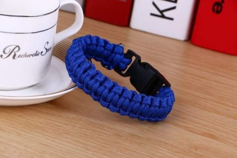 Survival Paracord Bracelet - Blue - Chain & Link Bracelets