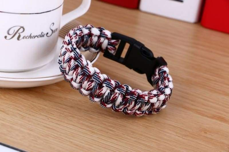 Survival Paracord Bracelet - Mixed Colors - Chain & Link Bracelets