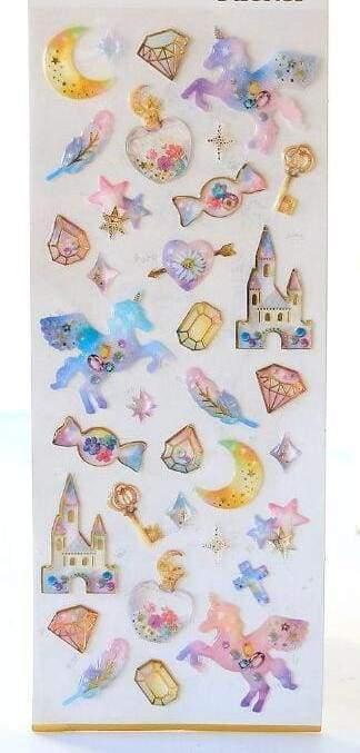 Sweet dream star & unicorn stickers - 04 - Stationery Sticker