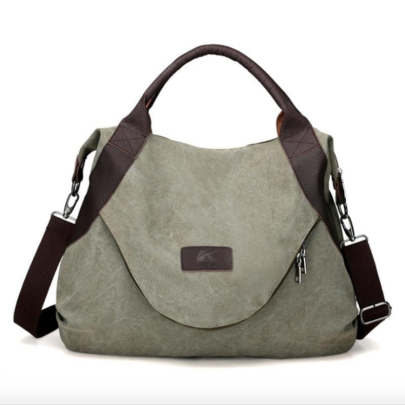 The canvas tote handbag - army large - Shoulder Bags