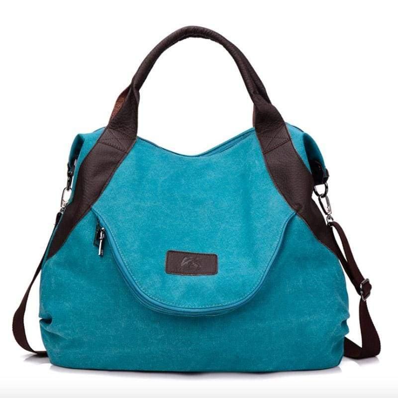 The canvas tote handbag - blue large - Shoulder Bags
